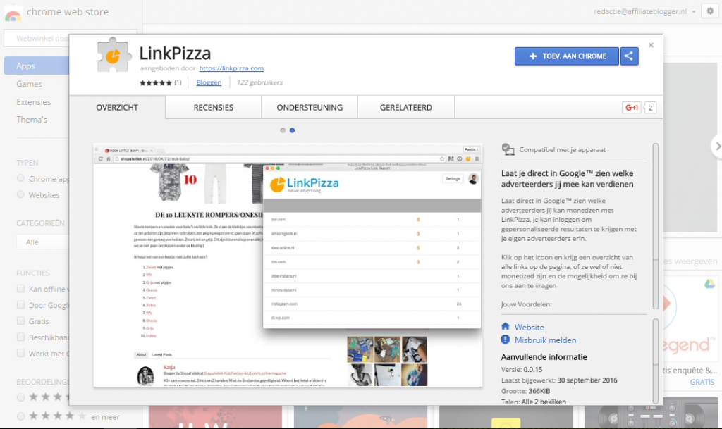 linkpizza-chrome-extentie