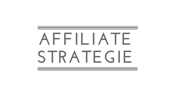 Affiliate strategie