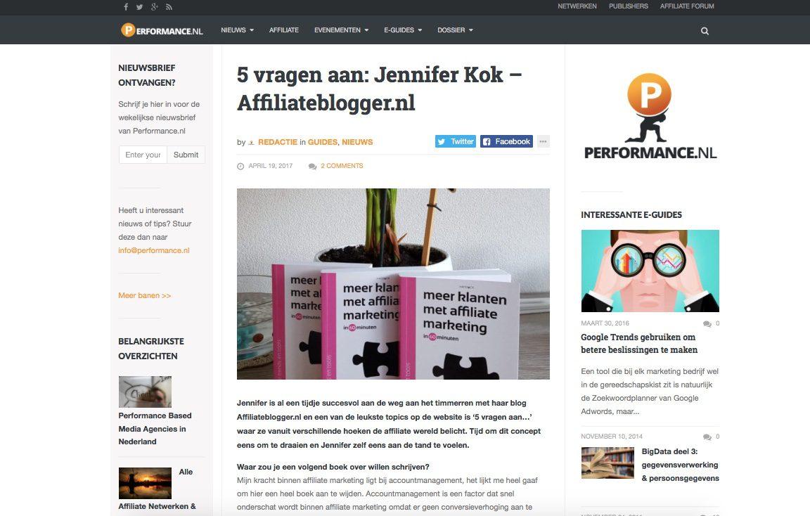 performance.nl interview Jennifer Kok affiliate