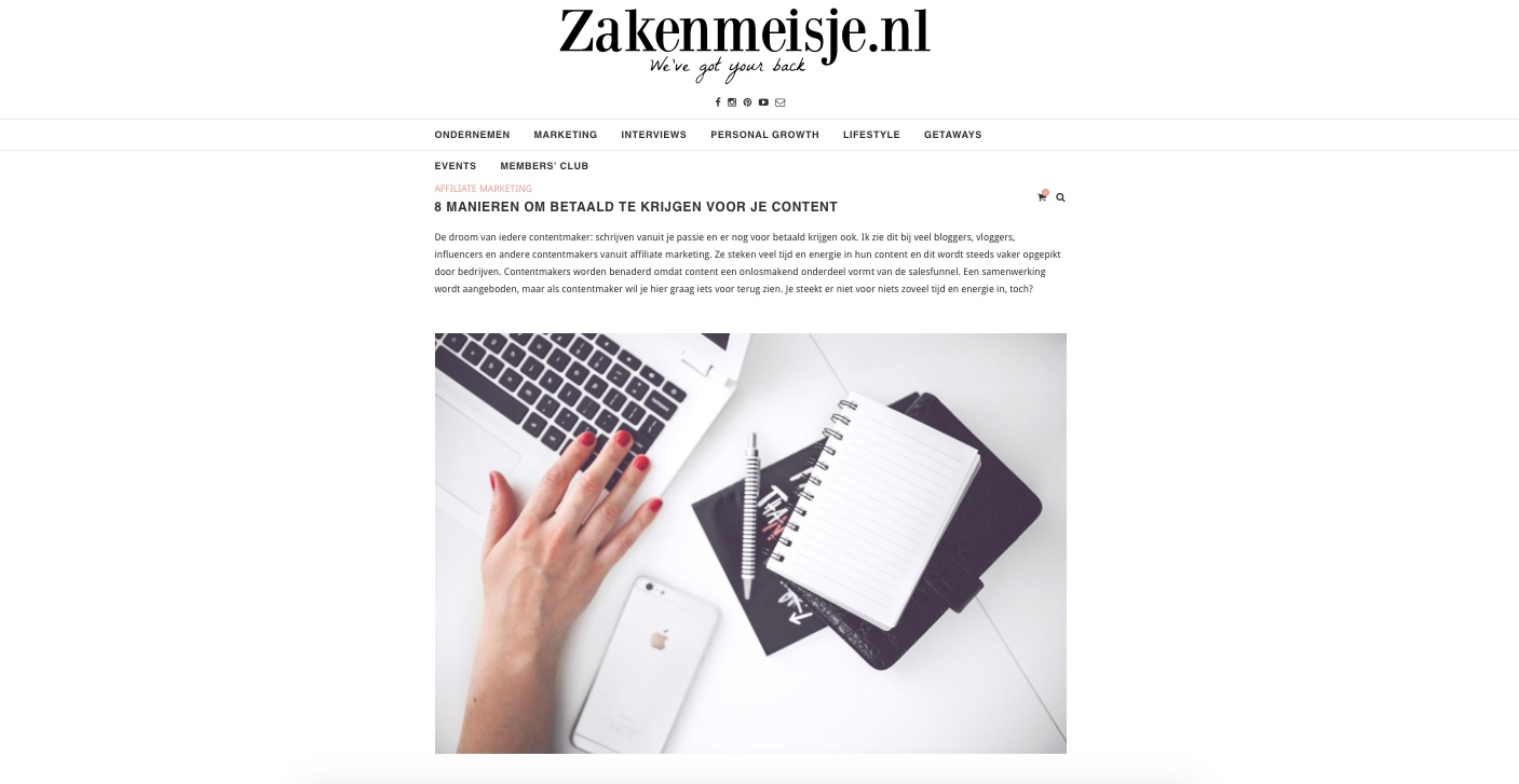 zakenmeisje gastblog affiliate marketing nummer 2