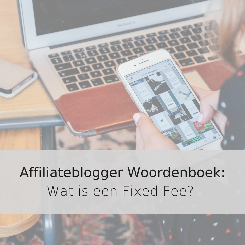 Affiliateblogger Woordenboek_Wat is een Fixed Fee?