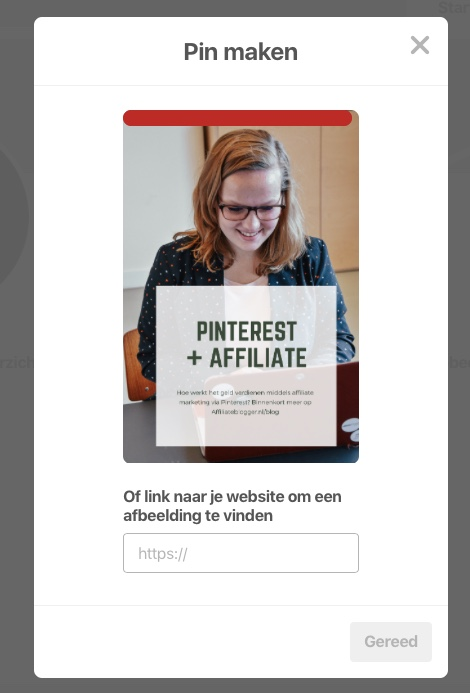 pinterest pin uploaden
