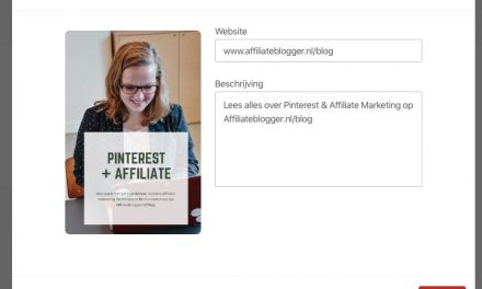 Zet jij Pinterest al in voor jouw affiliate marketing resultaat?