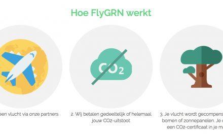 Nieuwe reispublisher FlyGRN compenseert gratis CO2-uitstoot